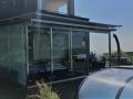 Terrassenüberdachung aus Edelstahl