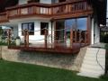 Terrasse aus Cortenblech mit Unterkonstruktion